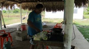 Roberto cooking