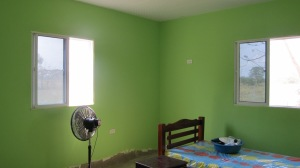 """Celery Green"" color for the bedrooms"